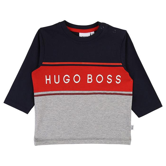 Boys' [6M-3Y] Colourblocked Logo T-Shirt
