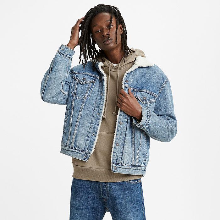 Men's Vintage Fit Sherpa Trucker Jacket
