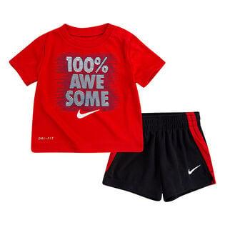 Ensemble deux pièces t-shirt + short pour garçons [2-4T]