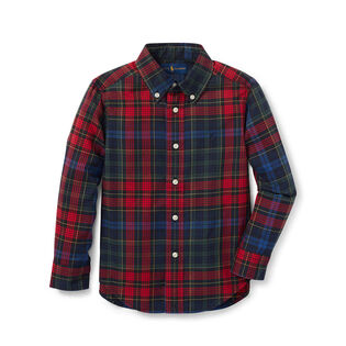 Boys' [5-7] Plaid Cotton Twill Shirt