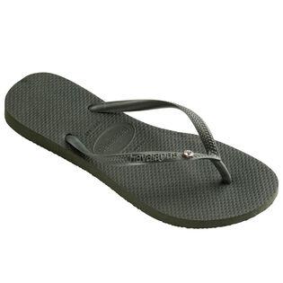 Women's Slim Crystal Glamour Flip Flop Sandal