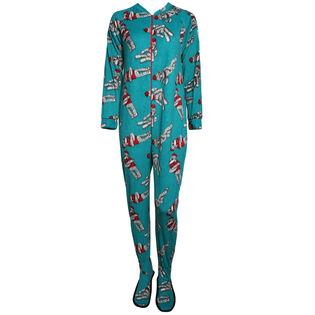 Women's One-Piece Sock Monkey Pajama