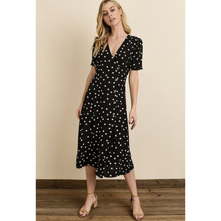 Women's Polka Dot Wrap Dress