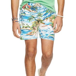 Men's Fish Print Palm Island Swim Trunk