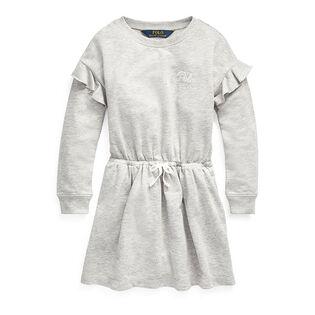 Girls' [5-6X] Ruffled French Terry Dress