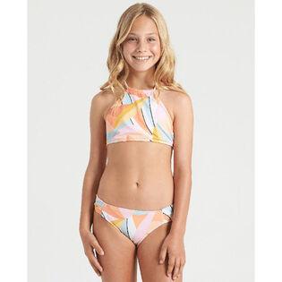 Junior Girls' [8-14] Warm Days High Neck Two-Piece Bikini
