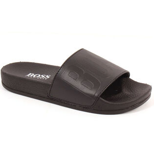 Juniors' [12-4] Embossed Logo Slide Sandal