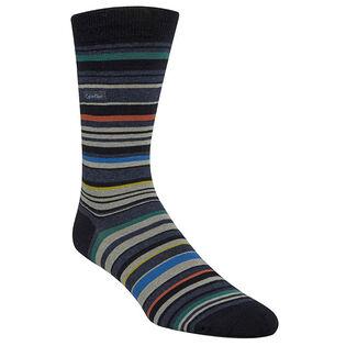 Men's Multicolour Stripe Crew Sock