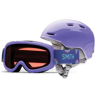Juniors' Zoom Helmet + Gambler Snow Goggle Combo [2021]