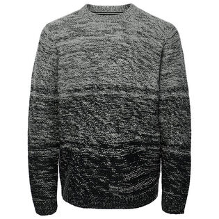 Men's Contrast Knit Sweater