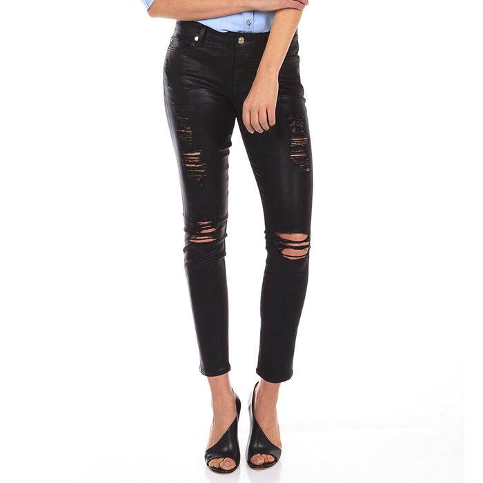 Women's Coated Ankle Skinny Jean