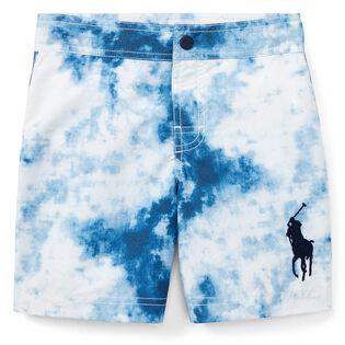 Boys' [5-7] Tie-Dye-Print Swim Trunk