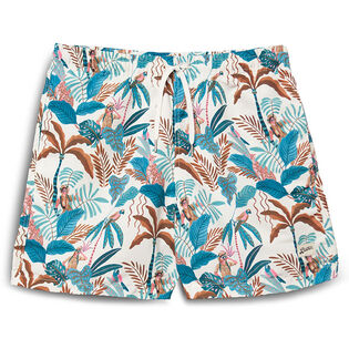 Men's Green Watercolour Swim Trunk