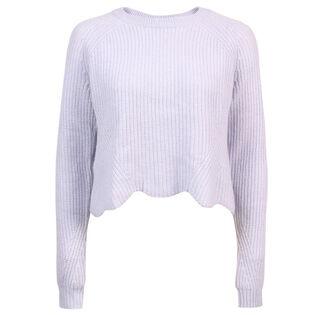 Women's Scalloped Shaker Crew Sweater