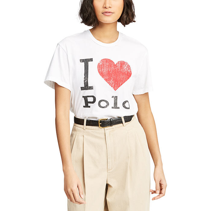 Women's Jersey Polo Graphic T-Shirt