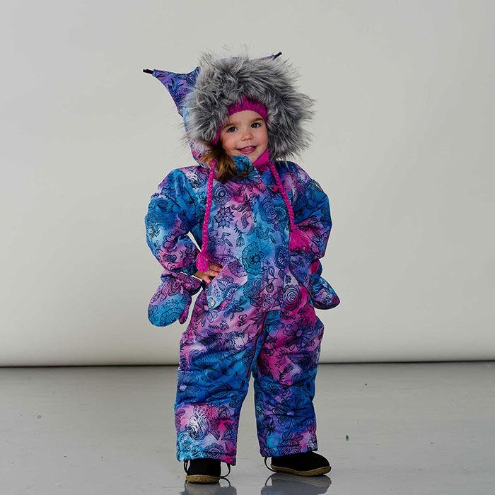 Habit de neige une pièce Winter Solstice Unicorns pour bébés filles [6-24M]