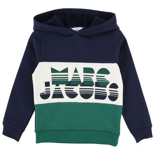 Junior Boys' [4-12] Colourblock Logo Hoodie