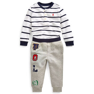 Baby Boys' [3-24M] Cotton Henley + Jogger Two-Piece Set