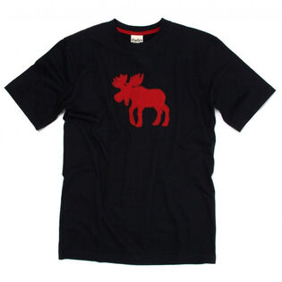 Men's Moose On Red T-Shirt