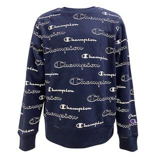 Junior Boys' [8-16] Allover Shadow Logo Crew Sweatshirt