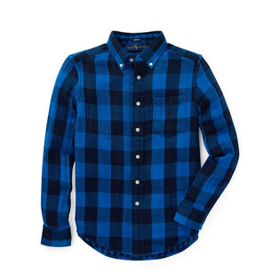 Junior Boys' [8-20] Reversible Plaid Cotton Shirt