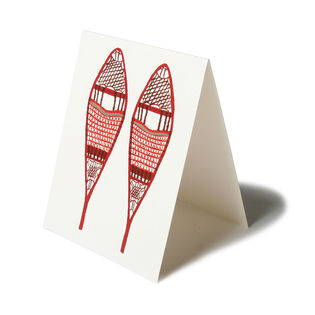 Seasonal Greeting Card (Snowshoe)
