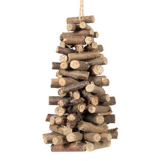 Stacked Wood Tree Ornament