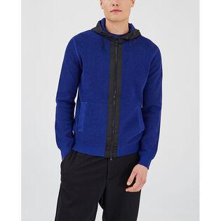 Men's Textured Cotton Full-Zip Hoodie