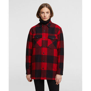 Women's Check Wool Overshirt