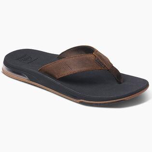 Men's Leather Fanning Low Flip Flop Sandal