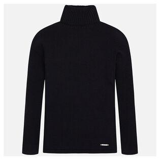 Chandail à col roulé en tricot pour filles juniors [8-16]