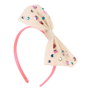 Girls' Glitter Mesh Bow Headband