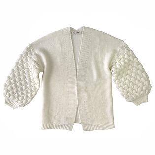 Junior Girls' [7-16] Popcorn Knit Cardigan