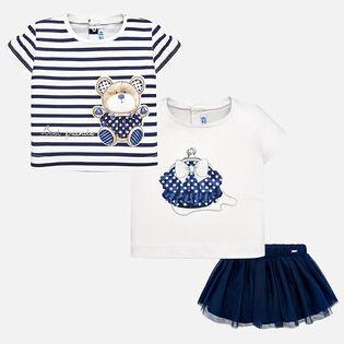 Baby Girls' [6-36M] Tee + Skirt Three-Piece Set