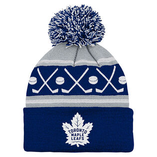 Kids' [4-7] Toronto Maple Leafs Face-Off Beanie