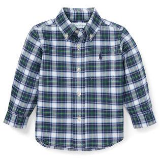 Baby Boys' [9-24M] Plaid Cotton Oxford Shirt
