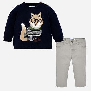 Baby Boys' [12-36M] Fox Knit Two-Piece Set