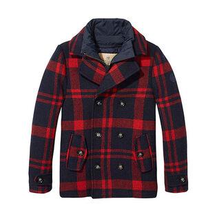 Manteau en laine pour garçons juniors [8-14]