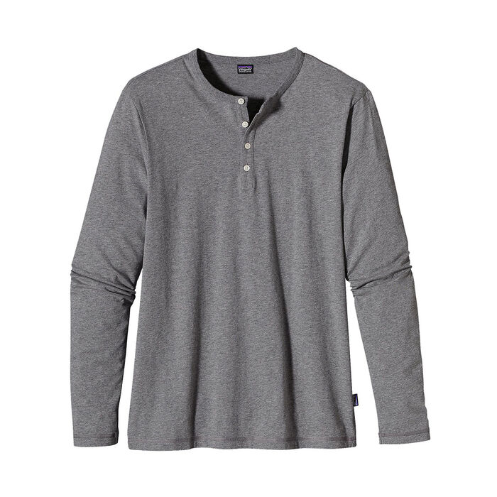 Men's Long-Sleeve Henley Top