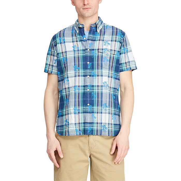 Chemise en madras à coupe sur mesure pour hommes