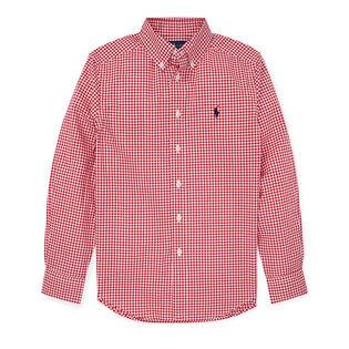 Junior Boys' [8-20] Gingham Cotton Poplin Shirt