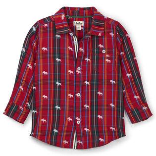 Boys' [2-6] Moose On Plaid Shirt