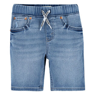Short ajusté en tissu dobby pour garçons juniors [8-16]