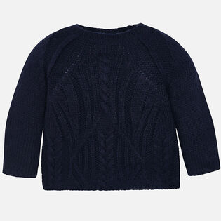 Girls' [3-6] Cable Knit Sweater