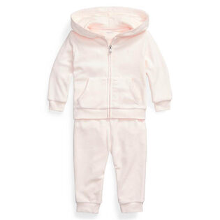 Baby Girls' [3-24M] Velour Hoodie + Pant Two-Piece Set