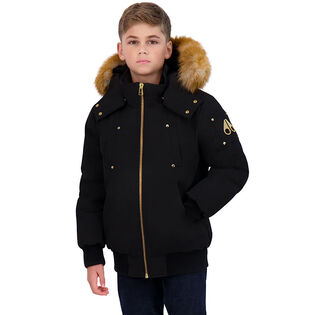 Juniors' [4-16] Gold Bomber Jacket