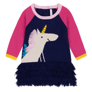 Girls' [3-6] Unicorn Sweater Dress