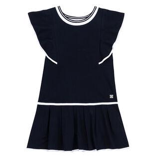 Girls' [3-6] Pleated Frill Dress