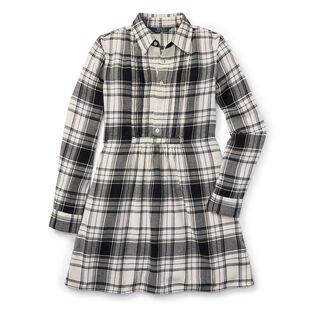 Junior Girls' [7-16] Plaid Cotton Twill Shirtdress