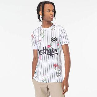 Men's Floral Baseball T-Shirt